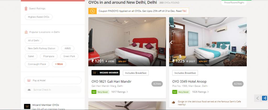 book oyo rooms- hotel list