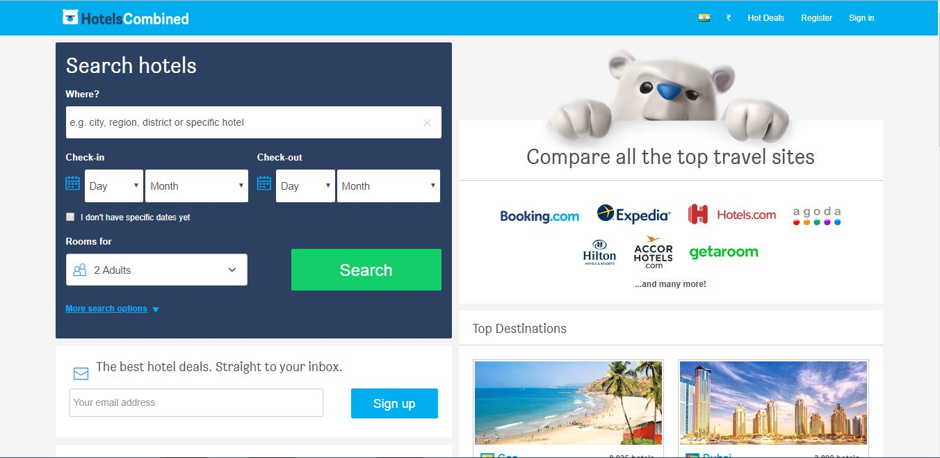 Best Hotel Price Comparison Sites- HotelsCombined.com