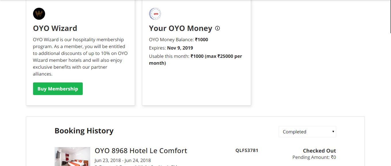 Check OYO Money