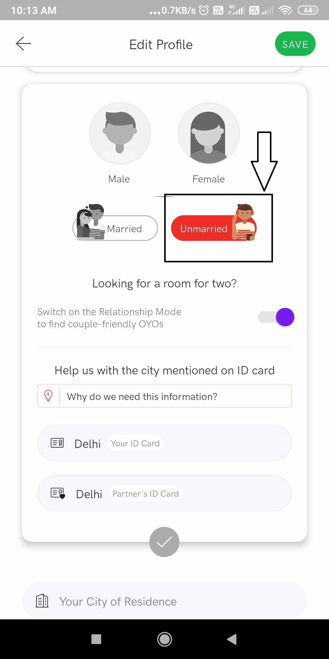 OYO relationship mode mobile-2