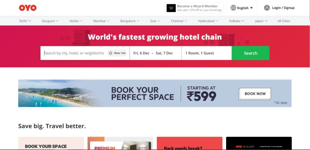 Book oyo room in same city